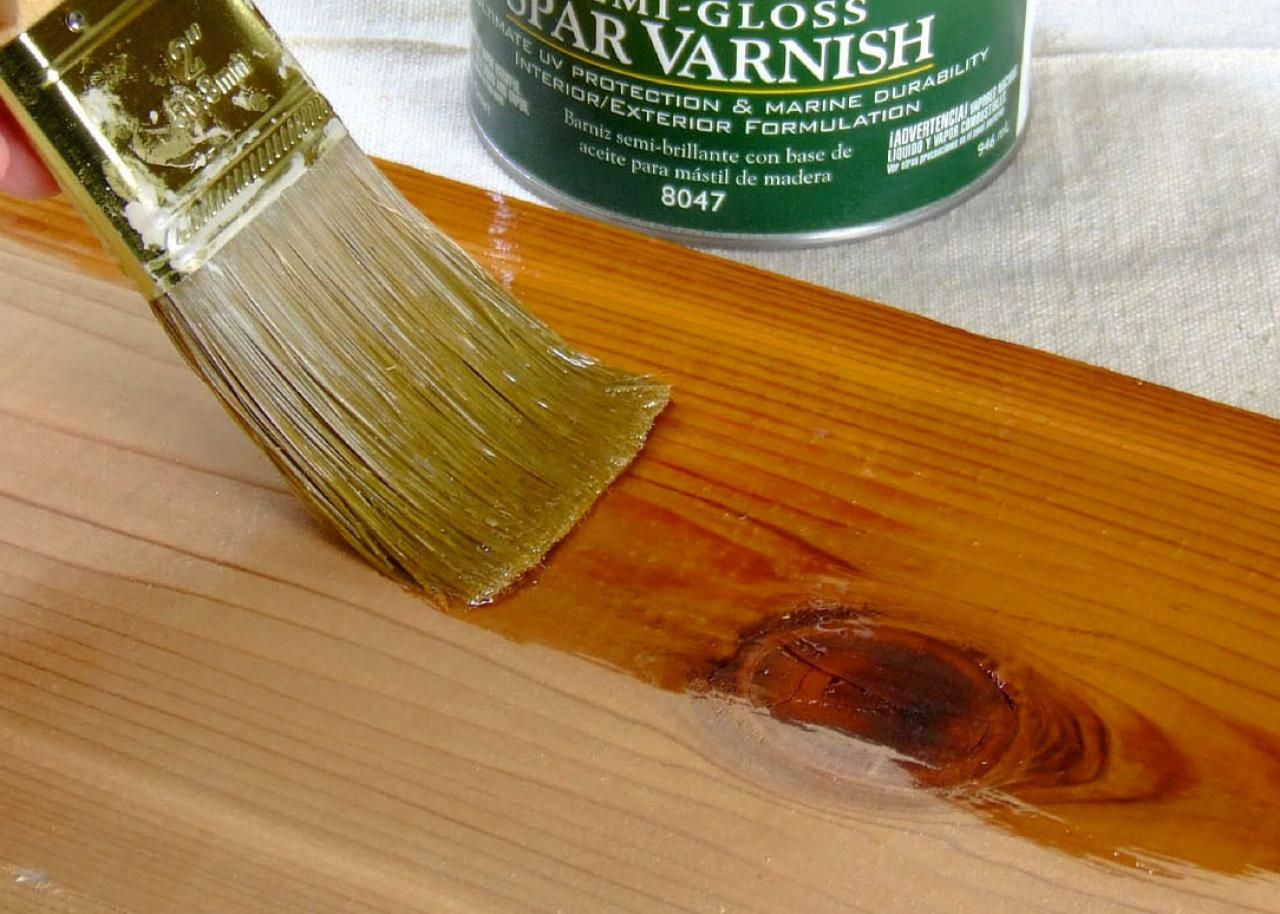 varnish on wood